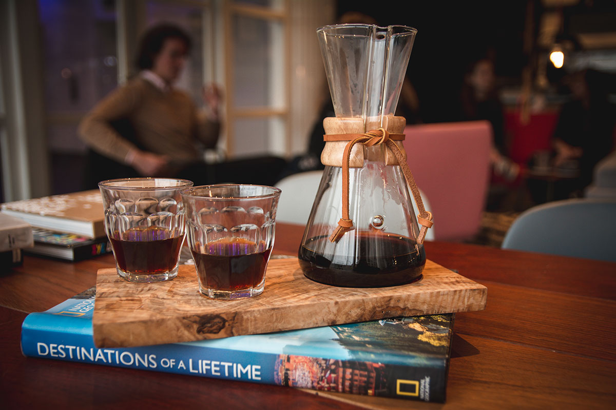 filter coffee with Chemex